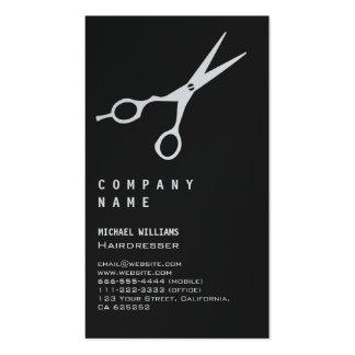 AESTHETIC HAIRDRESSING SALON BARBER BLACK BLACK SC PACK OF STANDARD BUSINESS CARDS