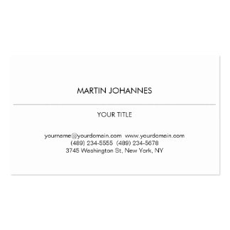 Aesthetic Plain Professional White Business Card