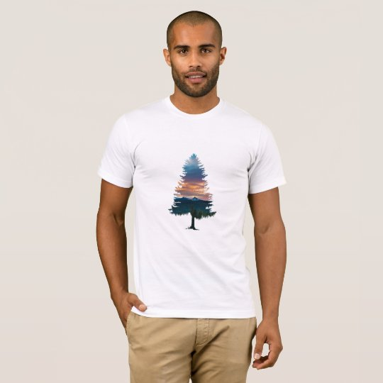 Aesthetic Simple Sunset Tree T-Shirt