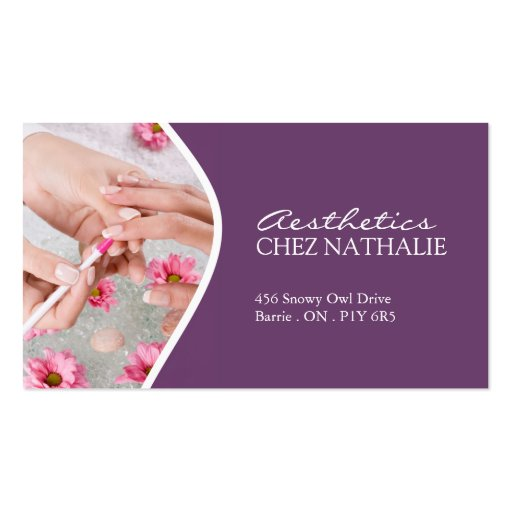Create your own nail technician business cards page6 aesthetician and nail technician business card reheart Gallery
