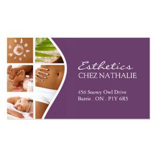 sample esthetician business cards sample esthetician business card designs. Black Bedroom Furniture Sets. Home Design Ideas