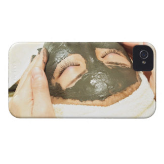 Aesthetician Who Rubs Mud Pack on Womans Face, iPhone 4 Case-Mate Case
