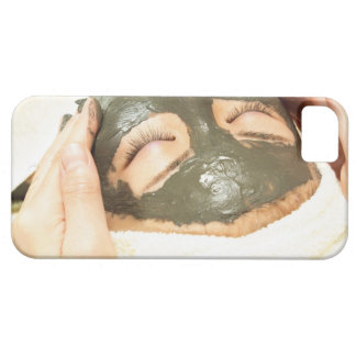 Aesthetician Who Rubs Mud Pack on Womans Face, iPhone 5 Cover