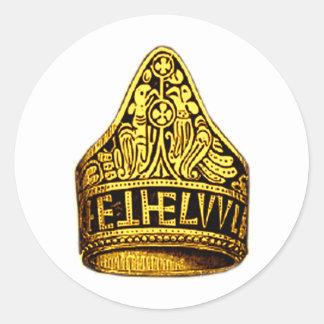 Aethelwulf's Gold Ring Round Sticker
