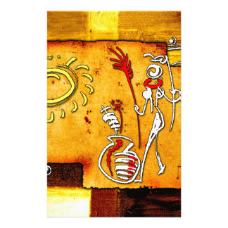 af019 Africa retro vintage style gifts Custom Stationery
