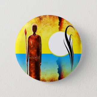 af027 Africa retro vintage style gifts 6 Cm Round Badge