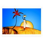 af038 Africa retro vintage style gifts Postcard