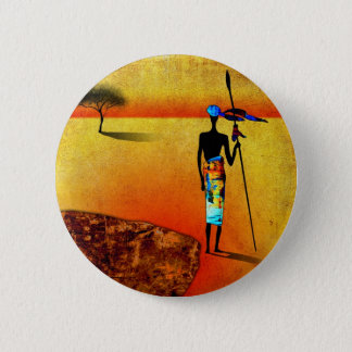 af039 Africa retro vintage style gifts 6 Cm Round Badge