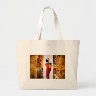 af044 Africa retro vintage style gifts Large Tote Bag