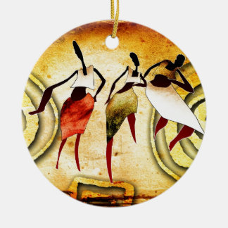 af060 Africa retro vintage style gifts Christmas Ornament