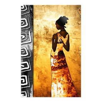 af083 Africa retro vintage style gifts Customised Stationery