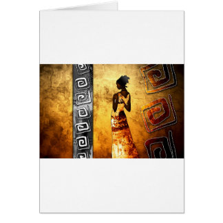 af083 Africa retro vintage style gifts Greeting Card