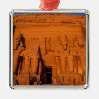AF, Egypt, Abu Simbel. Facade at sunset, Great Silver-Colored Square Decoration