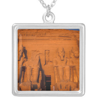 AF, Egypt, Abu Simbel. Facade at sunset, Great Silver Plated Necklace