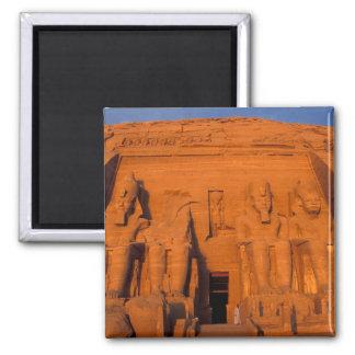 AF, Egypt, Abu Simbel. Facade at sunset, Great Square Magnet