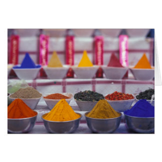 AF, Egypt, Aswan, Colorful spices in market. Card