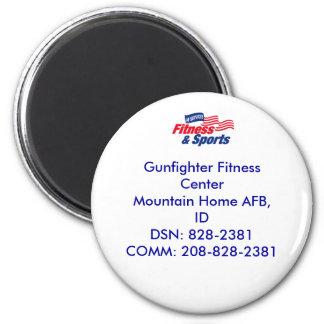 af fitness color, Gunfighter Fitness CenterMoun... 6 Cm Round Magnet