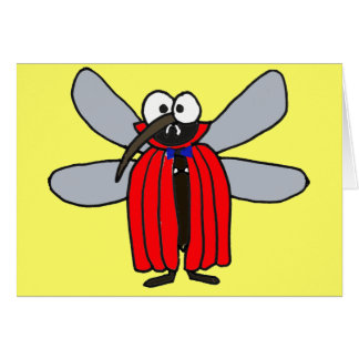 AF- Vampire Mosquito Thinking of You Card