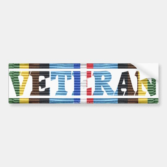 AFEM Veteran CMR Sticker Bumper Sticker