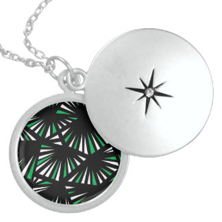 Affable Lucky Humorous Placid Round Locket Necklace