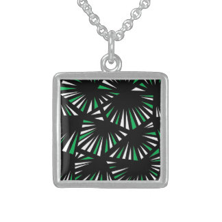 Affable Lucky Humorous Placid Square Pendant Necklace