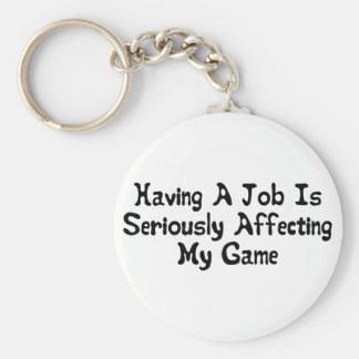 Affecting My Game Basic Round Button Key Ring