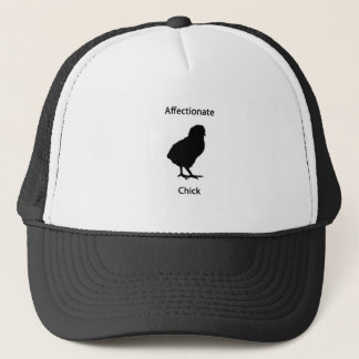 affectionate chick trucker hat
