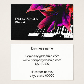 Affectionate Pianist Business Card