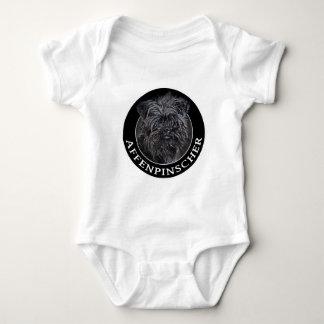 Affenpinscher 002 baby bodysuit