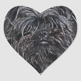 Affenpinscher 002 heart sticker