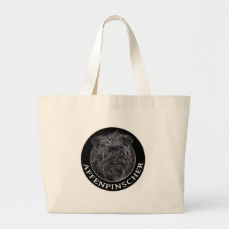 Affenpinscher 002 large tote bag