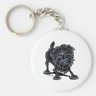 Affenpinscher at Play Key Ring
