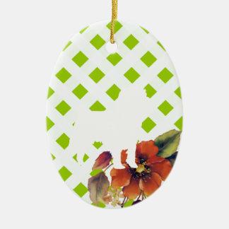 Affenpinscher Autumn Floral Ceramic Oval Decoration