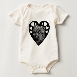 Affenpinscher BW003 Baby Bodysuit