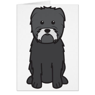 Affenpinscher Dog Cartoon Card