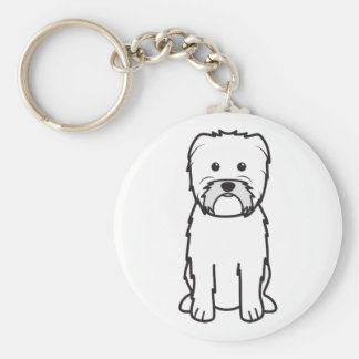 Affenpinscher Dog Cartoon Key Ring