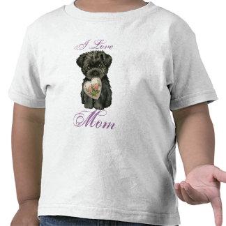 Affenpinscher Heart Mom T Shirts