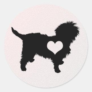 Affenpinscher Heart Sticker