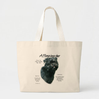 Affenpinscher History Design Large Tote Bag