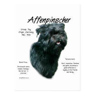 Affenpinscher History Design Postcard