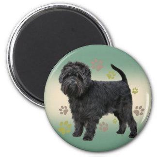 Affenpinscher Paw Prints Products 6 Cm Round Magnet