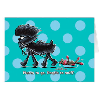 Affenpinscher Places to Go Card