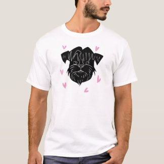 Affenpinscher portrait with hearts T-Shirt