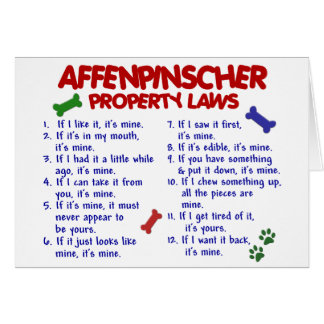 AFFENPINSCHER Property Laws 2 Card