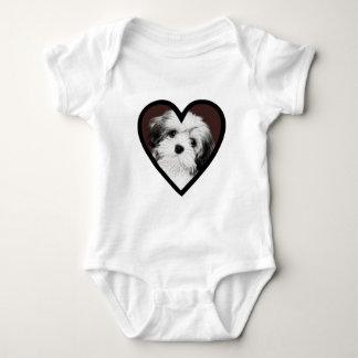 Affenpinscher Puppy Heart 001 Baby Bodysuit