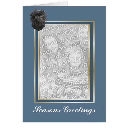 Affenpinscher Seasons Greeting Photocard Card