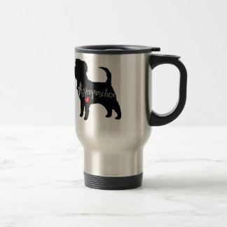 Affenpinscher with Heart Dog Breed Puppy Love Travel Mug