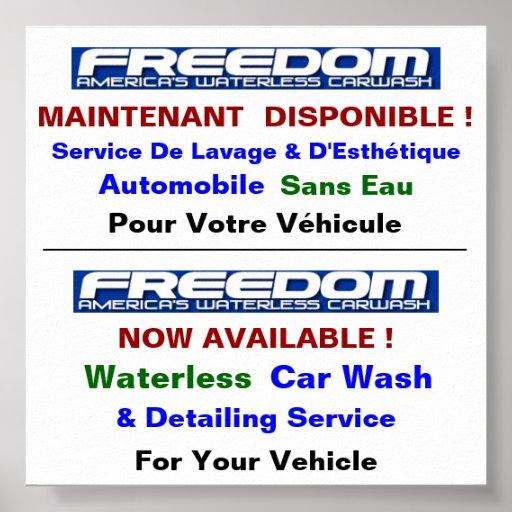 Affiche UltraLuster Pour Lave Auto Sans Eau Poster