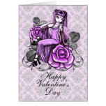 """Affinity""  Pink Valentines Day Rose Fae Card"