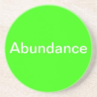Affirmation coaster - Abundance